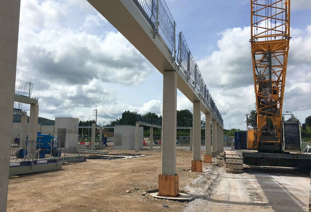 Wrexham Police HQ 2 – erection of the hybrid structural frame