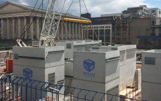 Offsite precast concrete construction by PCE in Birmingham