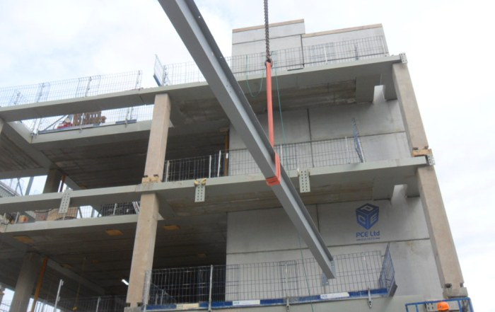 PCE demonstrates advantages of hybrid construction on a confined site