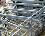 PCEs structural steelwork at Royal Holloway University