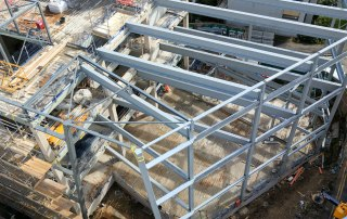 Precast concrete components and structural steel by PCE