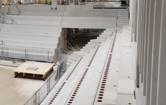 Offsite produced precast concrete by PCE Ltd in London
