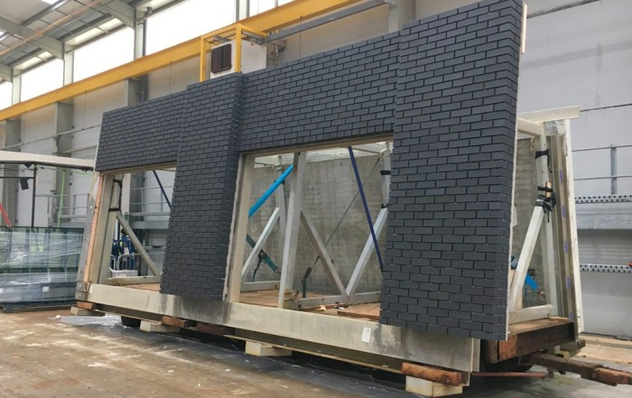 PCE Ltd are using architectural brick faced precast concrete sandwich panels for the hotel façade