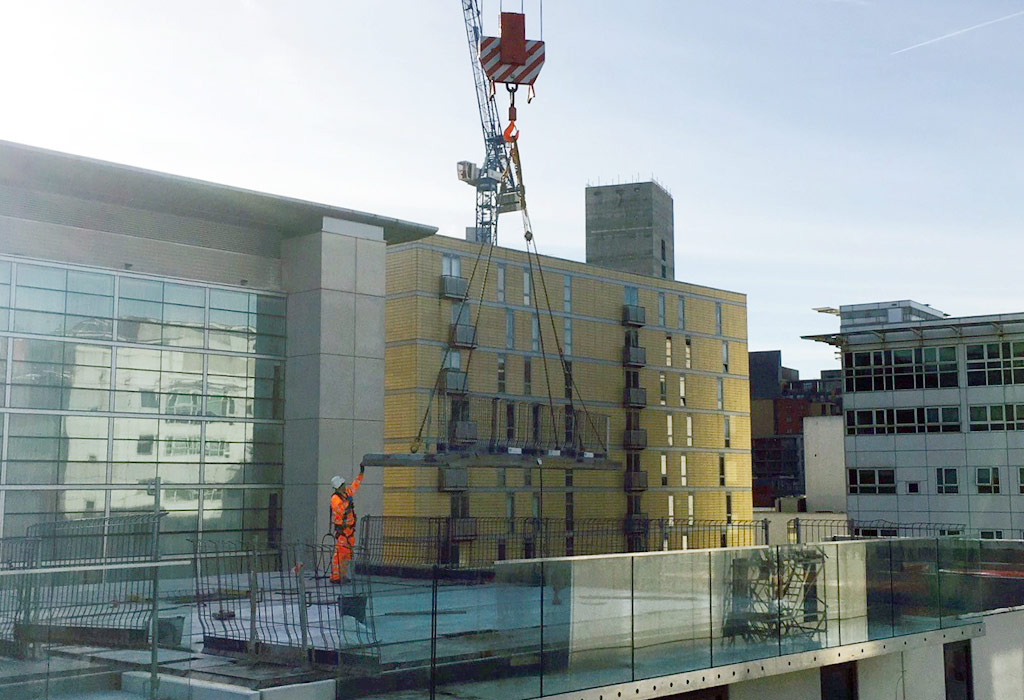 PCE Ltd in residence at Dandaras Chapel Wharf project in Manchester