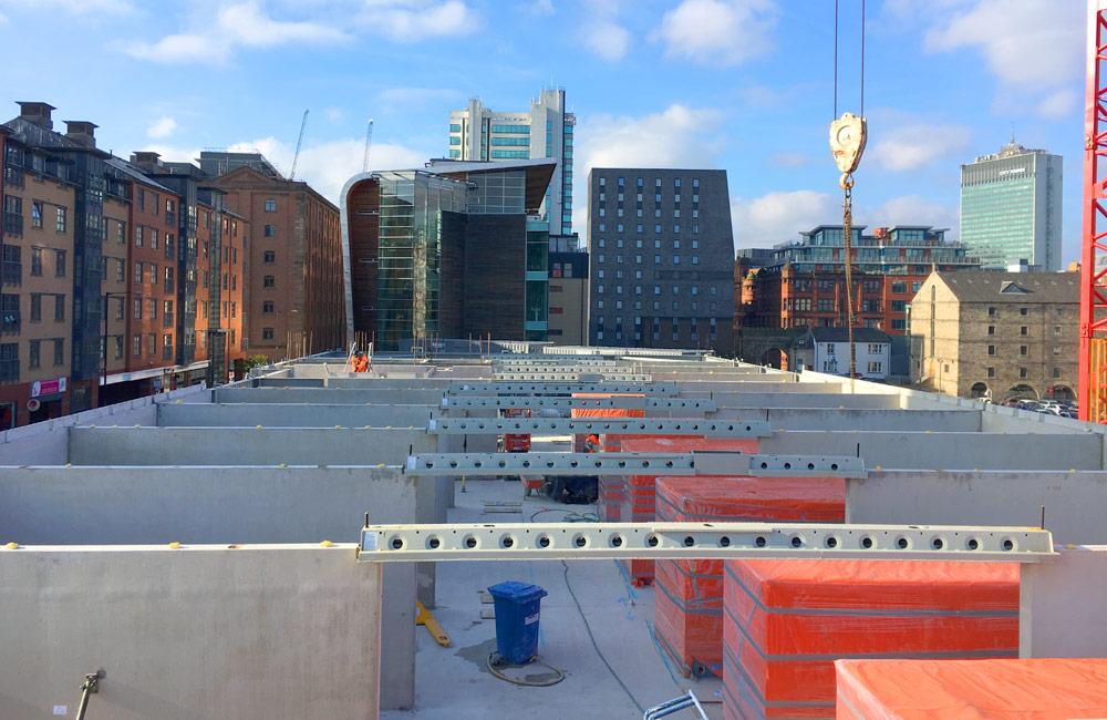 Dakota Hotel construction by PCE Ltd in Manchester