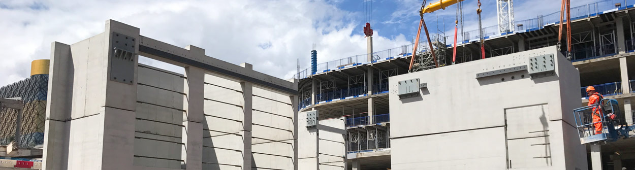 PCE Ltd precast concrete hybrid construction of commercial buildings