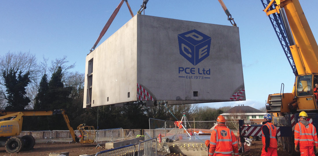 PCEs volumetric precast concrete box sections