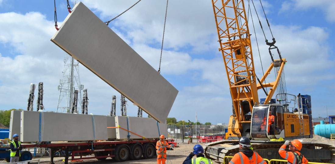 A key feature of the erection process is the safe and careful turning of units