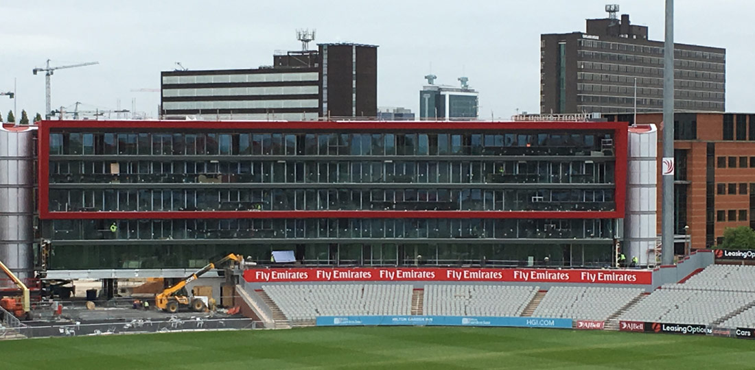 Structural hybrid frame at the heart ofEmirates Old Trafford Hotel