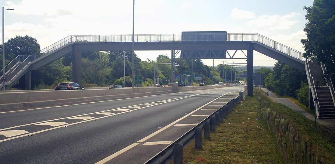 The completed Clifton Road bridge in Runcorn constructed by PCE