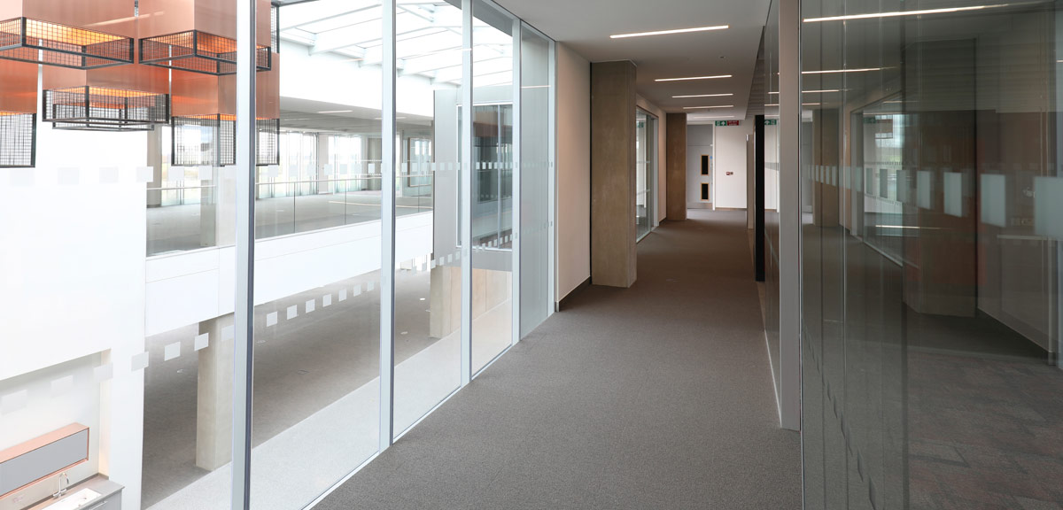 The PCE GT Flooring Solution was utilised at the CEF building in Durham