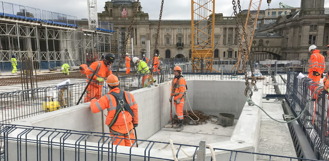 Offsite engineered precast concrete and steel components