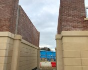 Mount Oswald student accommodation units before offsite engineered arch is installed