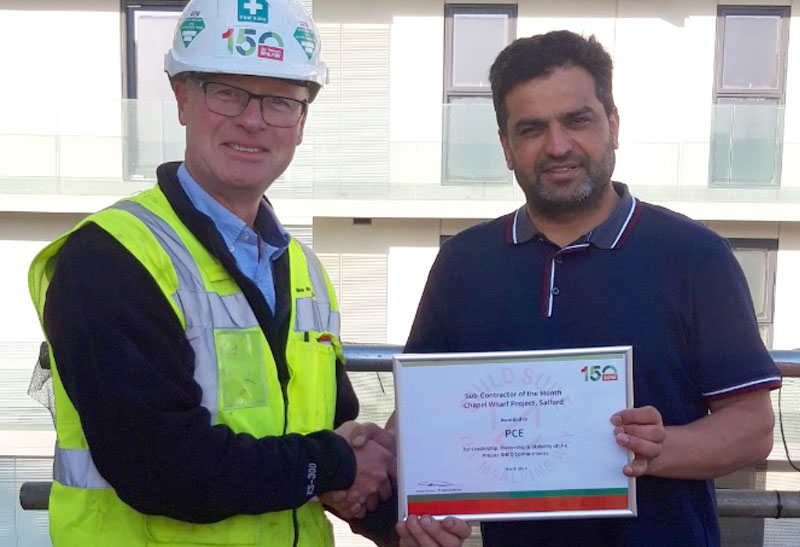 Another Health and safety award for PCE Ltd