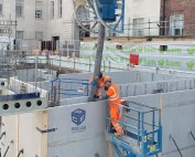PCE on site at The Sir William Henry Bragg Building in Leeds
