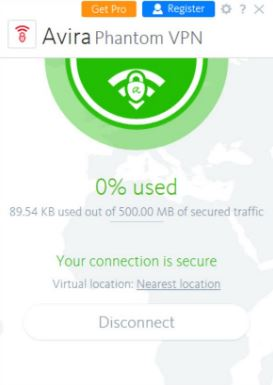 Download Avira Free Phantom VPN 2.23.1.32633 Free