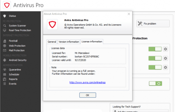 Avira Antivirus Pro 2017 Crack + License Key Download