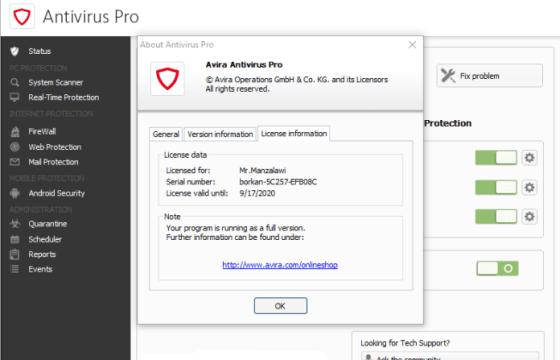 Avira Antivirus Pro 2017 Crack + License Key Download