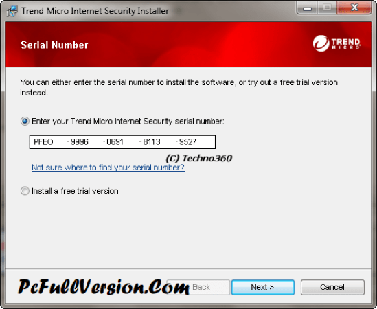 Trend Micro Internet Security 2017 Serial Number