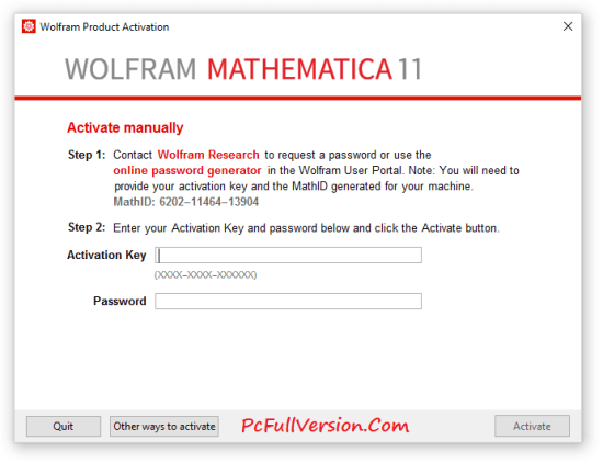 Wolfram Mathematica 11 Activation Key Generator