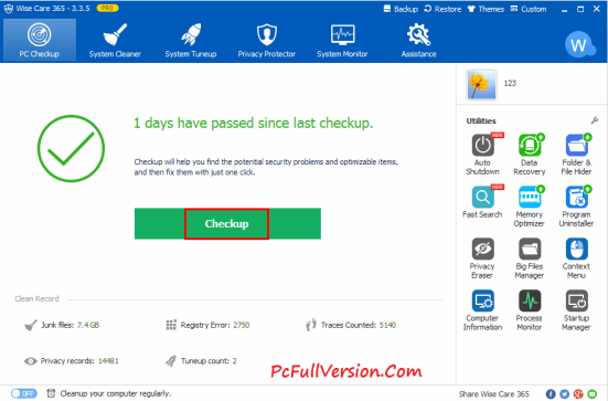 Wise Care 365 Pro 4.71 Crack with License Key Full VERSION