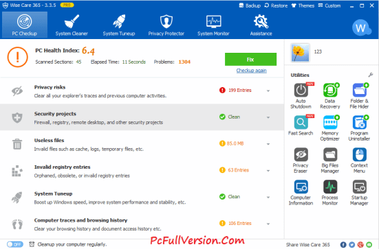Wise Care 365 Pro Crack with License Key Full VERSION