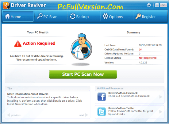 Driver Reviver Crack with Serial Key Download