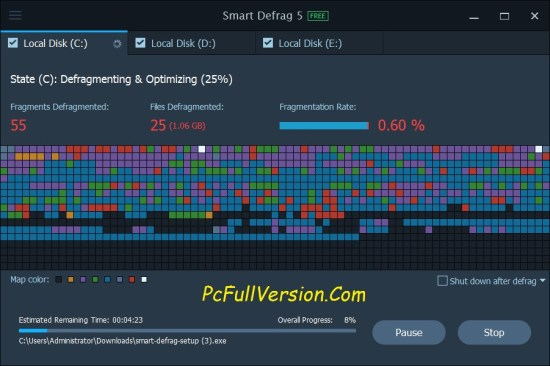 iObit Smart Defrag PRO Crack with Serial Key Free Download