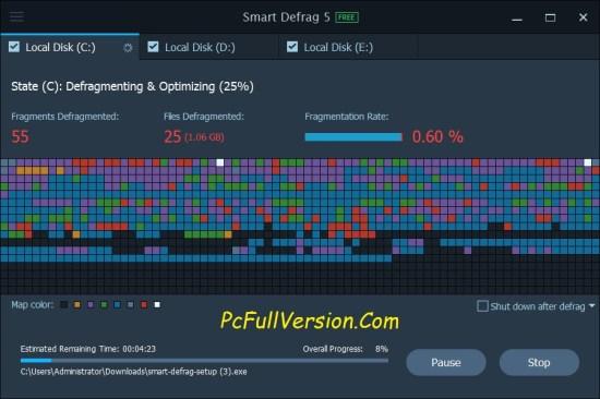 iObit Smart Defrag PRO 5.7.1.1150 Key With Crack Full Version
