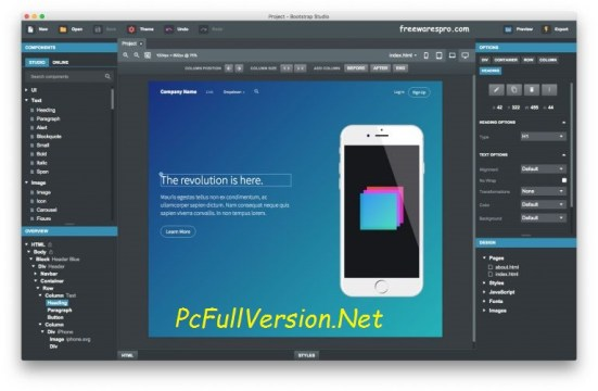 Bootstrap Studio 2.7 Cracked Professional Full Free Download