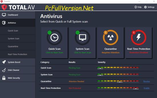 Total AV Antivirus Crack + Serial Key Free Download