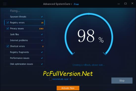 Advanced SystemCare Pro 11.5 Serial Key