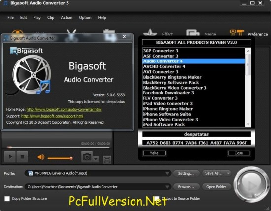 Bigasoft Audio Converter Crack Download