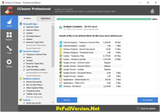 CCleaner Professional Serial Key
