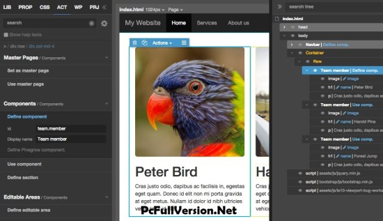 Pinegrow Web Editor for Windows, Mac, Linux