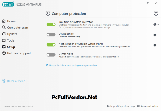 ESET NOD32 Antivirus Email and Password