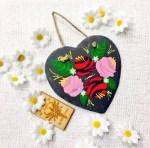 Traditional Canal Art Slate Heart