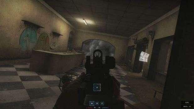 במשחק לא רואים את המפה ומספר הכדורים שנותרו במחסנית