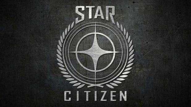 לוגו המשחק Star Citizen. האתר הרשמי