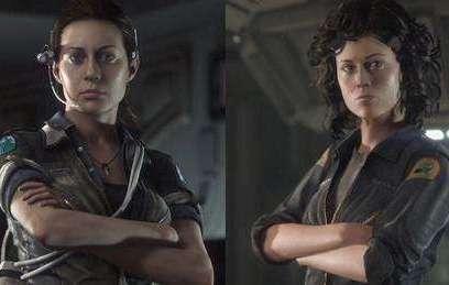 אלן ריפלי ובתה, אמנדה מתוך דמויות המשחק Alien Isolation