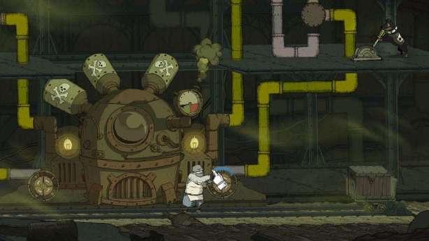 תמונת משחקיות מגרסת ה-iOS של המשחק Valiant Hearts: The Great War.
