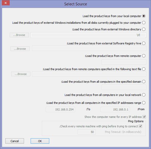 קובץ -> Select Source