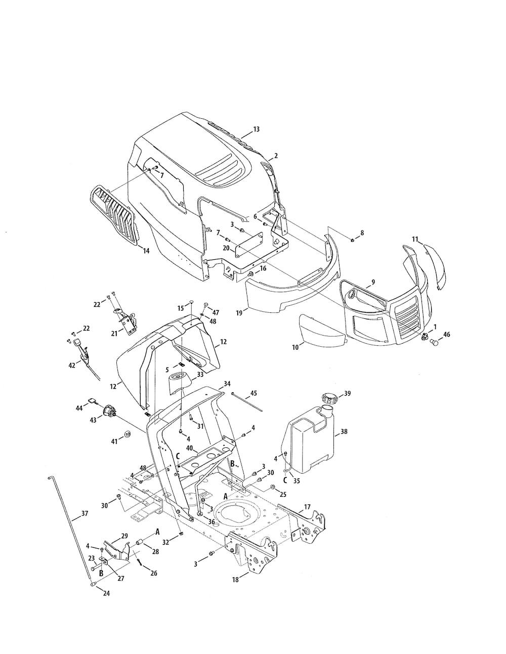 Craftsman 24728885 lawn tractor