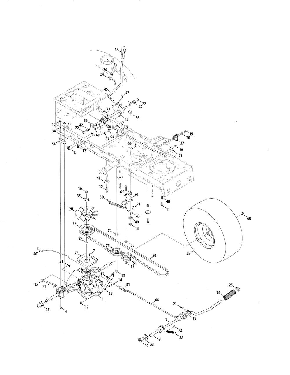 Craftsman 24728915 lawn tractor