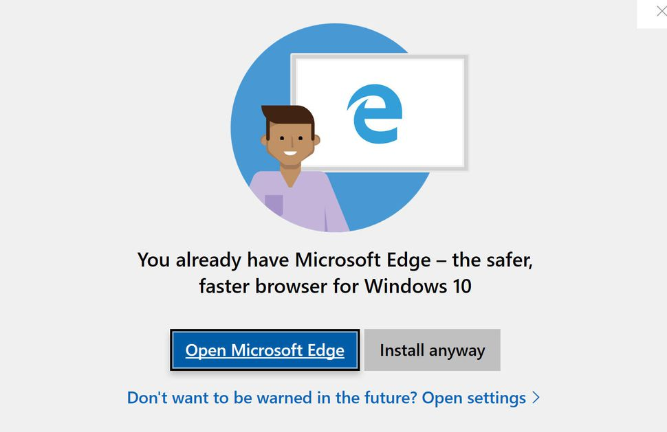 Microsoft Windows U-turn removes warning about installing Chrome, Firefox