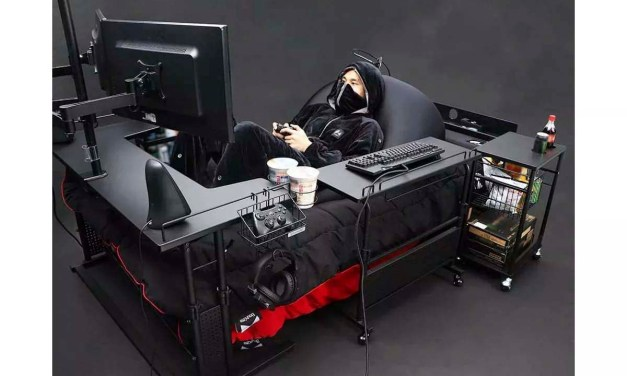 Straight from Japan – This $1000 decked out gaming bed setup is every gamer's dream come true : Luxurylaunches