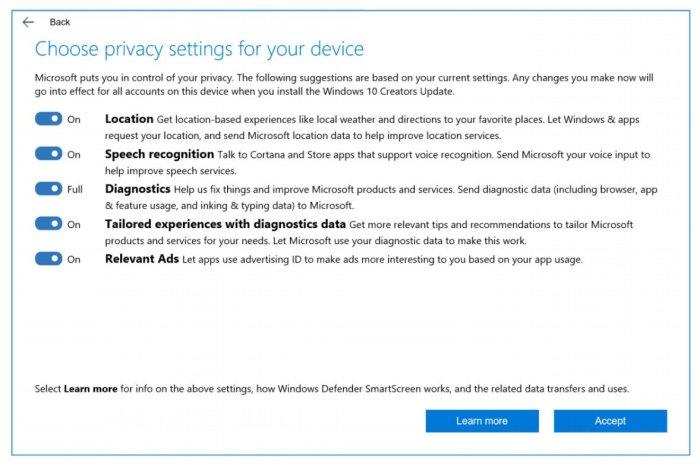 Privacidade Windows 10