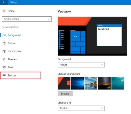 hide windows taskbar automatically