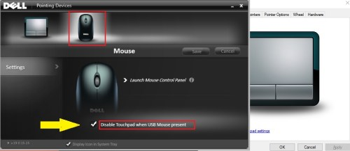 disable touchpad