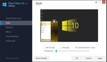 Windows 7 start menu stype